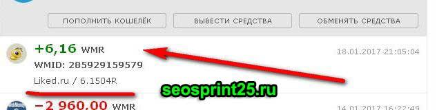 выплата 6 рублей