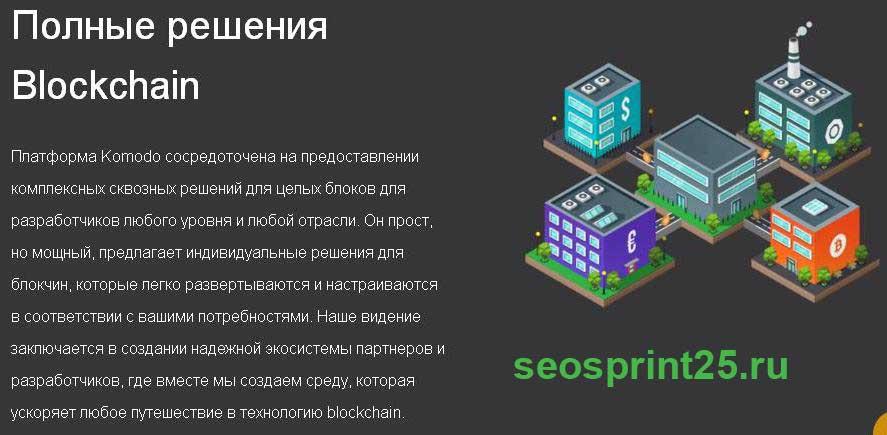 Platforma Komodo blockchain
