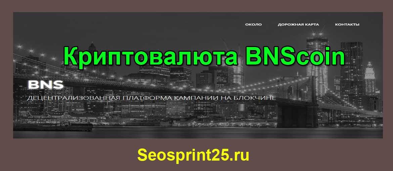 Криптовалюта BNScoin